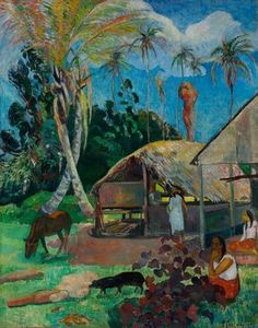 Les cochons noirs, par Paul Gauguin