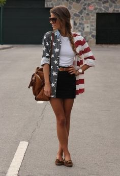 American flag shirt. 4th of July!! Or any other day :)