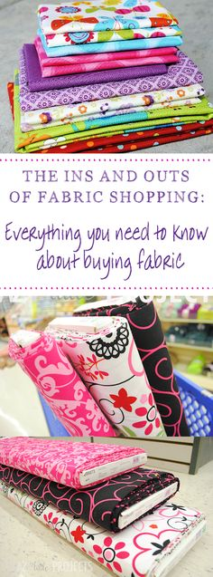 Learn to Sew Series-How to Buy Fabric - Crazy Little Projects A Guide to How to Buy Fabric: Understanding different types and how to find your way around the fabric store Should you absolutely love arts and crafts you'll will love this site! Sewing Hacks, Sewing Tutorials, Sewing Crafts, Sewing Tips, Sewing Ideas, Dress Tutorials, Sewing Lessons, Sewing Basics, Diy Couture