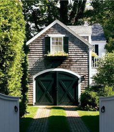 Home exterior designs are a vital portion of your house's curb appeal. It has a big effect on your home's curb appeal. The exterior of your house doesn't need to cost a whole lot of money to appear great. Garage Design, Exterior Design, House Design, Exterior Siding, Garage Plans, Shed Plans, Garage Ideas, Rv Garage, Barn Plans