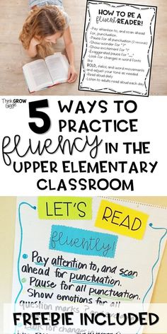 At you looking for fluency activities for graders and older students? These activities for your upper elementary classroom are perfect for instruction and intervention to increase fluency. These strategies worked for my students and will work for your Reading Fluency Activities, Fluency Practice, Teaching Reading, Guided Reading, Teaching Ideas, Reading Time, Reading Comprehension, Reading Lessons, Reading Resources