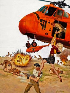 ... big orange helicopters! by x-ray delta one, via Flickr