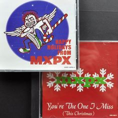 Mxpx Fan Club Christmas Punk Cd Lot x2 You're The One I Miss 2001 + Party 2002