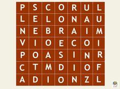 El tablero de las palabras escondidas. Un juego para hacer #gimnasiamental