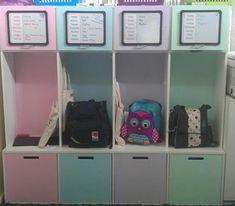 Trendy kids school bag storage entry ways ideas School Bag Organization, School Bag Storage, Backpack Organization, Organization Station, Home Organisation, Kids Storage, Locker Storage, Storage Ideas, Storage Baskets
