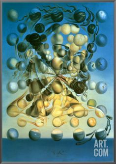 Galatea of the Spheres Framed Canvas Print by Salvador Dalí at Art.com