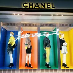 """CHANEL, New Bond Street, Mayfair, London, UK, """"Color can do anything that black-and-white can"""", pinned by Ton van der Veer"""