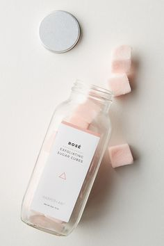 Harper + Ari Exfoliating Sugar Cube Bottle by in Pink Size: All, Bath & Body at Anthropologie Beauty Care, Beauty Skin, Beauty Hacks, Diy Beauty, Beauty Guide, Beauty Ideas, Sugar Scrub Diy, Diy Scrub, Sugar Cubes