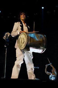 Mika banging his trash can - iTunes Live 2009 at The Roundhouse on July 31, 2009 in London, England