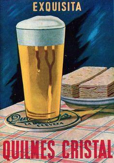 Cerveza QUILMES. Publicidad argentina, 1942.