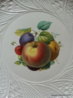 Meissen Apple Fruit Charger Plate 19th Century | eBay