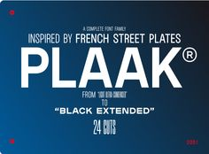Plaak: a typeface by Damien Gautier. www.editions205.fr