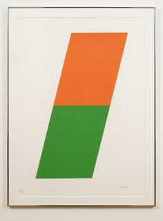 Ellsworth Kelly,  Orange / Green, 1970 Color lithograph 41 1/2 x 30 1/8 in. / 105.4 x 76.5 cm. Edition of 75