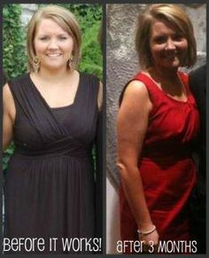 """This gal is also a Distributor for It Works products...she lost 16"""" in her tummy and a half inch in her arms. She used the Ultimate Body Applicator, Fat Fighter, Thermofit, the Greens, and It's Vital."""