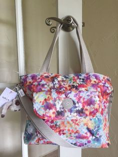 Kipling Peggy Tote Shoulder Bag Garden Happy Multi Floral Print #Kipling #TotesShoppers