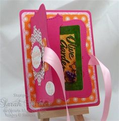 Stetler Arts | Rubber Stamping Tutorials | Card Making Ideas: Top Note Gift Card Holder