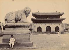 Haechi Stone statue and Gwanghwamun(1904) - Willard Dickerman Straight / 해치 석상과 광화문(1904) - 윌러드 디커맨 스트레이트