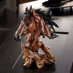 Spirit of the Stallion Bust $24.95 https://www.facebook.com/Twogirlsdecor/posts/791699570946191 #twogirlsdecor #tabletop #decor #homedecor #horse #stallion #bust #animal