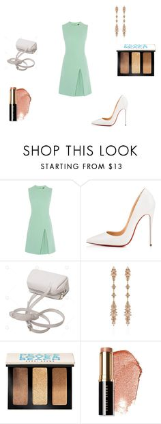"""""""Slight."""" by tiannia-barnes ❤ liked on Polyvore featuring Christian Louboutin, Fernando Jorge and Bobbi Brown Cosmetics"""