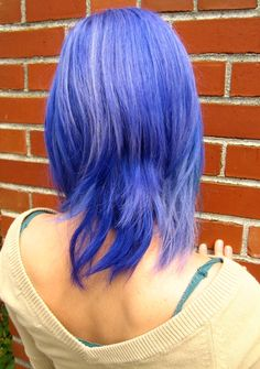hair color ideas: blue sky creativity – jagged sapphire bob   bob