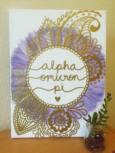 ANY SORORITY Custom Canvas  Gold & Lavender by CaliCanvas on Etsy