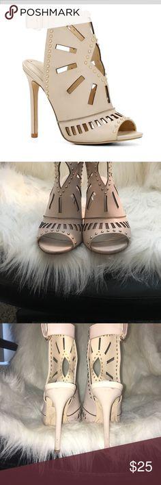 Aldo peep toe heels/boots Regular wear and tear, great for spring wardrobe Aldo Shoes Heels