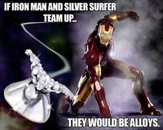 iron man n silver surfer
