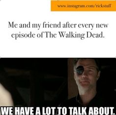 The walking dead meme, just dont include me in this since im so far behind haha. also fuck this dude. what a major sick dickhead