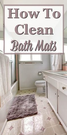Here are instructions for how to clean bath mats in your bathroom, to keep them looking and smelling their best. #ad