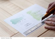 Make Your Own Watercolour Wedding Invitations in 3 Easy Steps | Printables | The Pretty Blog