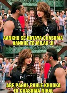 Yes chashmish nikalenga tabhi toh aankhein milega Funny School Jokes, Crazy Funny Memes, Funny Facts, Funny Jokes, Hilarious, Funny Insults, Desi Humor, Desi Jokes, Whatsapp Fun