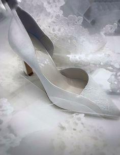 wedding shoes raso e pizzo tulle sposa via Mazzini 4/F Torino
