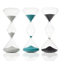 Hourglasses from Z Gallerie. For on top of the chest in the dining room. Can't decide on a color - might need all 3 for a grouping! #zgallerie
