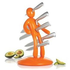 The Ex Edition Orange Kitchen Knife Set