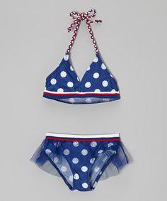 Look at this #zulilyfind! Royal Polka Dot Halter Bikini - Infant & Toddler #zulilyfinds