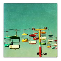 "photography // santa cruz // free shipping - Summer of 67, 20""x20"" art photography print by SeptemberWren on Etsy"