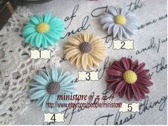 4pcs 25mm Resin chrysanthemum Cabochon   SD939 by ministore, $3.80