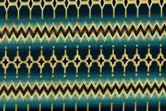 Cotton Quilt Fabric Southwest Stripe Geometric Benartex Teal Blue - product image