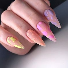Edgy Nails, Aycrlic Nails, Grunge Nails, Funky Nails, Stylish Nails, Swag Nails, Hair And Nails, Summer Acrylic Nails, Best Acrylic Nails