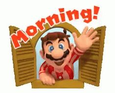The perfect Good Morning Mario Animated GIF for your conversation. Discover and Share the best GIFs on Tenor. Super Mario Bros, Mundo Super Mario, Super Mario World, Super Mario Brothers, Super Smash Bros, Nintendo Game, Nintendo Characters, Good Morning Animation, Good Morning Gif