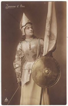 German postcard  Joan of Arc  Jeanne d'Arc