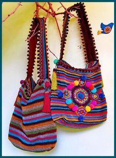 Boho Bright Crochet Bag