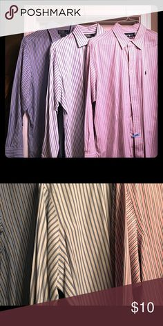 3 Oxford Shirts EUC and dry cleaned! All three for 10! Ralph Lauren Shirts Dress Shirts