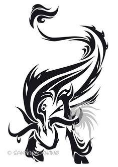 Unique Black Tribal Taurus Tattoo Stencil By Saki BlackWing Baby Tattoos, Body Art Tattoos, Tribal Tattoos, Girl Tattoos, Tattoo Drawings, Taurus Bull Tattoos, Sagittarius Tattoo Designs, Taurus Art, Zodiac Tattoos