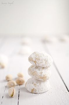 Chai Spiced Pistachio Snowdrop Cookies will add an exotic twist to your holiday parties!
