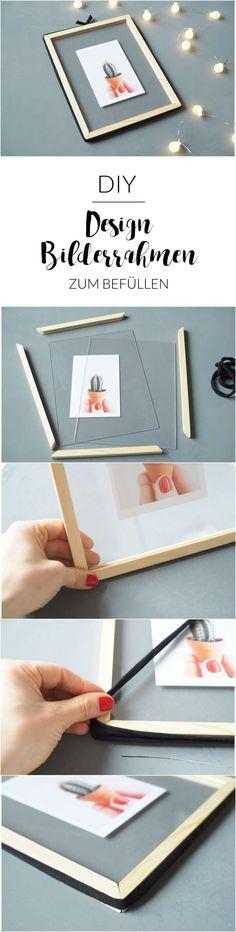 Wie du den trendigen Design-Bilderrahmen zum Befüllen ganz einfach und günstig selber machen kannst? Hier gibt's die ganze Anleitung!