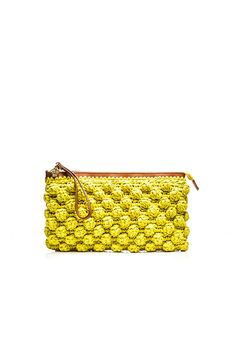 #MMissoni | Lime Raffia Clutch | #Summer2016
