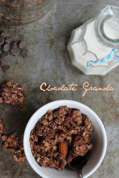 Chocolate Granola, Crock-pot Option, G-F, D-F, V