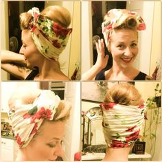 Diva Mia shares a tutorial for a cute scarf up-do in todays blog!