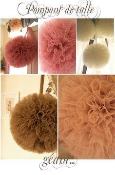 How to make a Tulle Pom Pom Ball